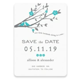 Songbird Save The Date Postcards