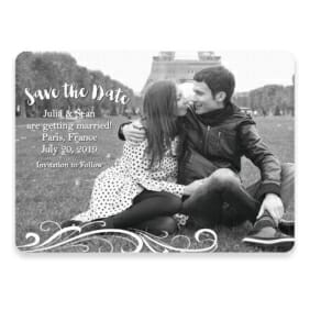 Paris Save The Date Postcards