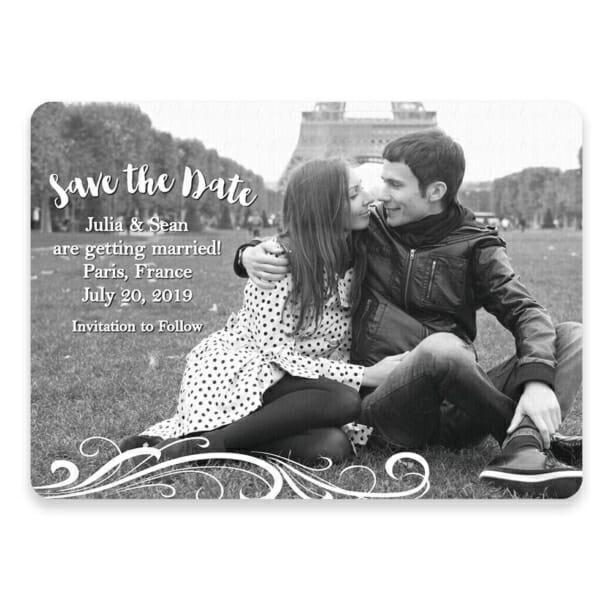 Paris Save The Date Postcards