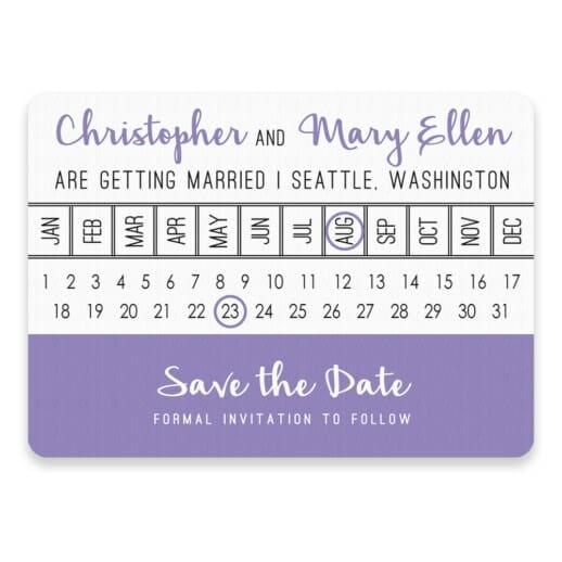 Modern Calendar Save The Date Postcards