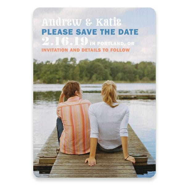 Mirror Lake Save The Date Postcards