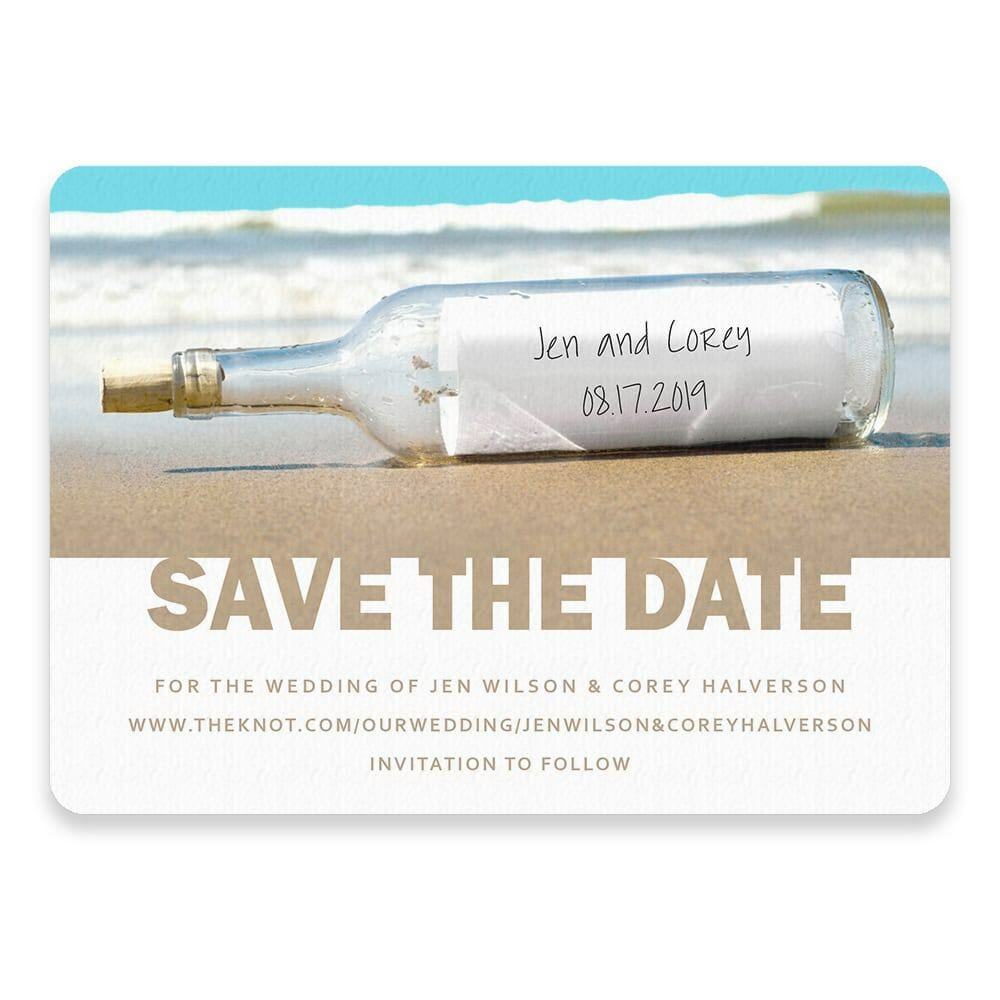 Message In A Bottle Save The Date Postcards