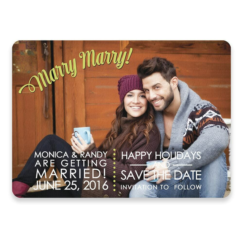 Marry Marry Save The Date Postcards