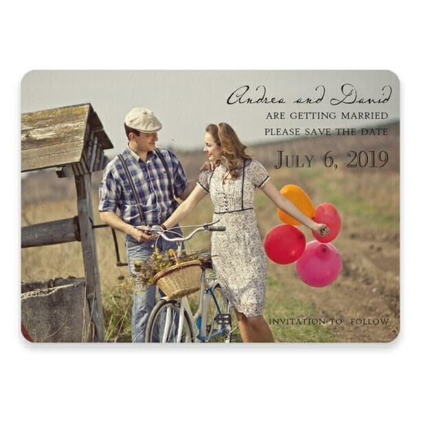 Love Her Madly Save The Date Postcards