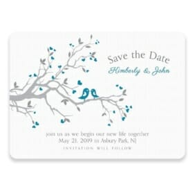 Love Birds Save The Date Postcards