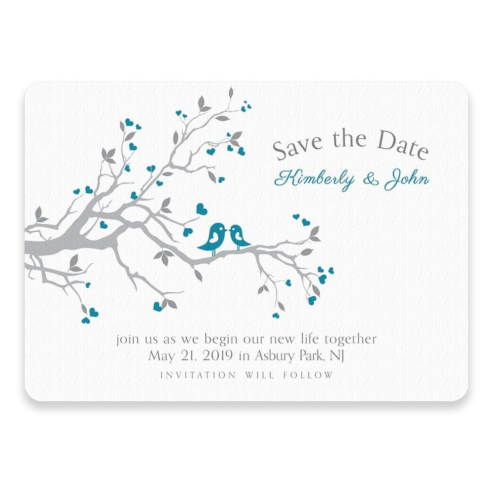 Love Birds Save The Date Postcards