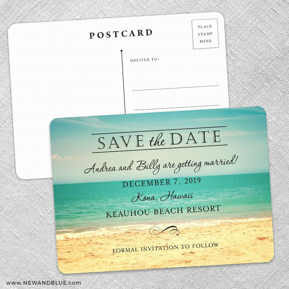 Kona Save The Date Postcards