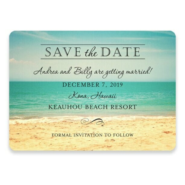 Kona Save The Date Postcards