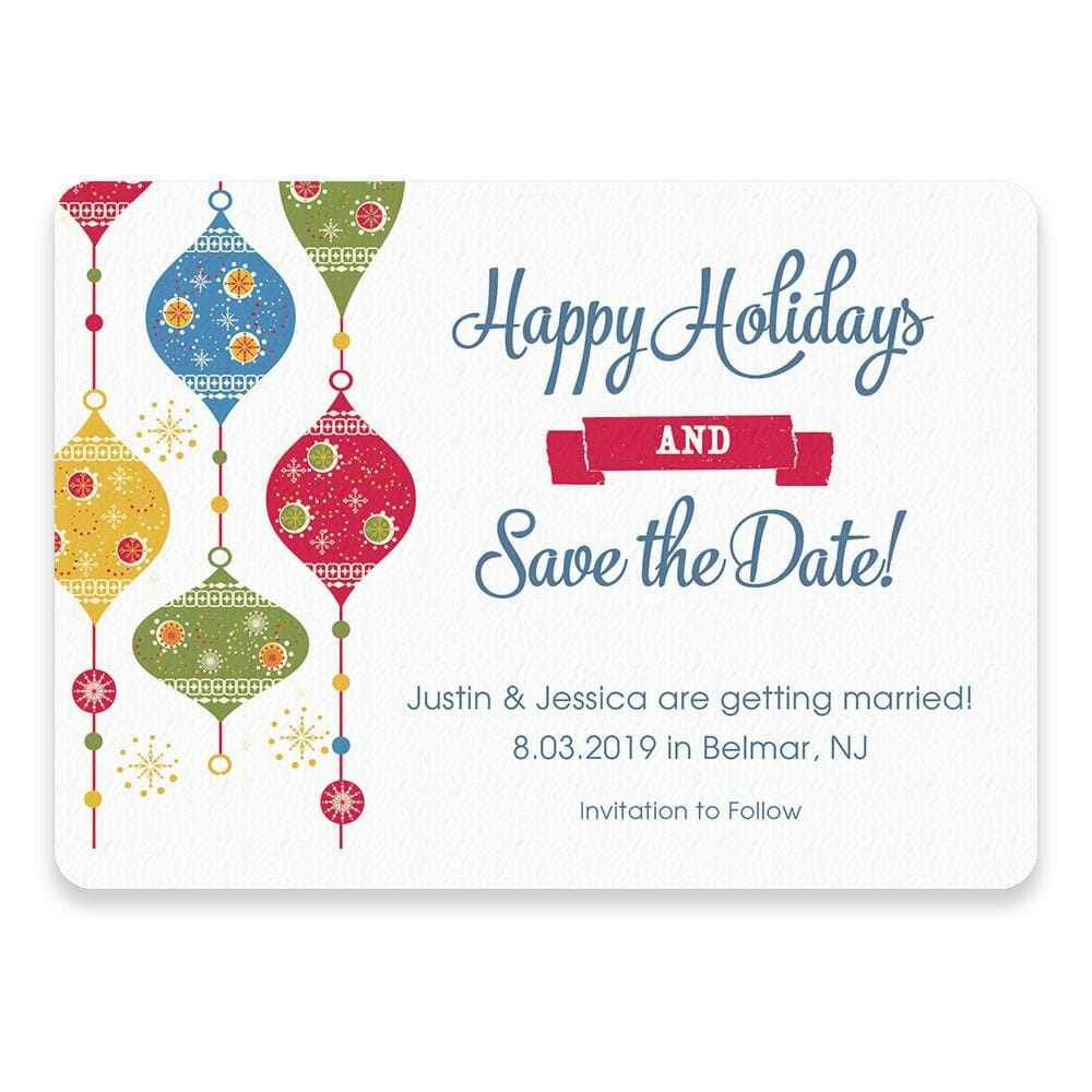 Jingle Bells Save The Date Postcards