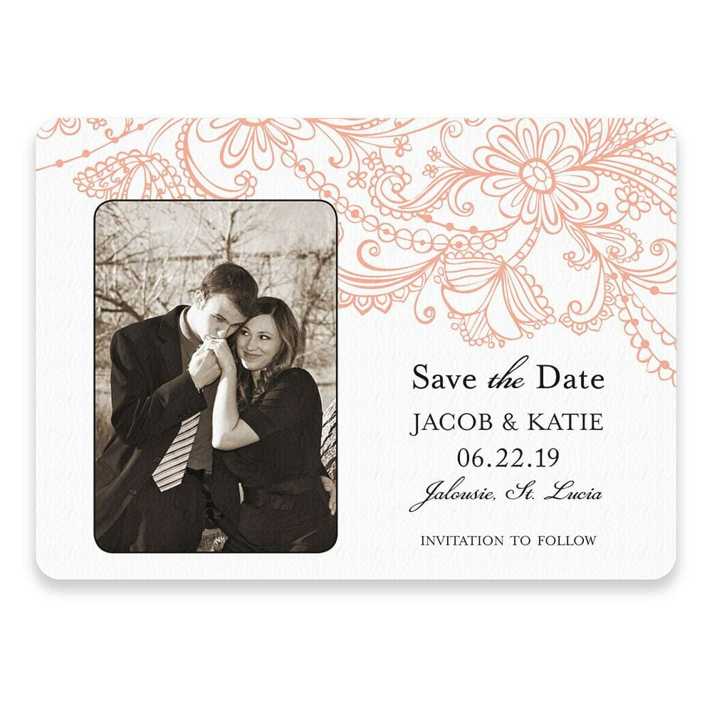 Jalousie Save The Date Postcards