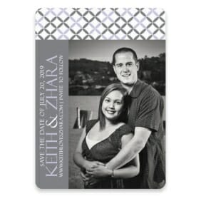 Hugs And Kisses Save The Date Postcards