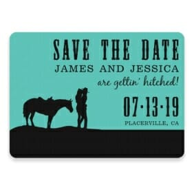 Hitched Save The Date Postcards