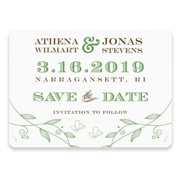 Happy Day Save The Date Postcards