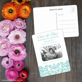 Grace Save The Date Postcard With Back