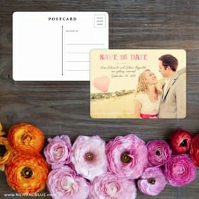 Frolic Save The Date Postcard With Back