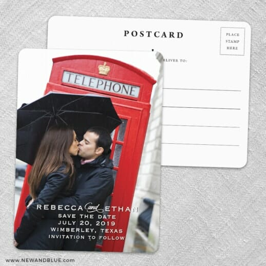 Forest Park Save The Date Wedding Postcard Front And Back