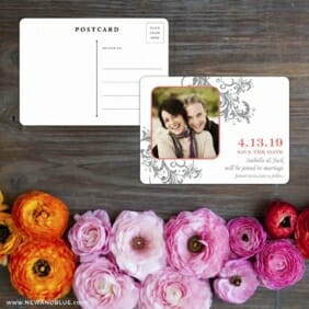 Flourish Save The Date Postcard With Back
