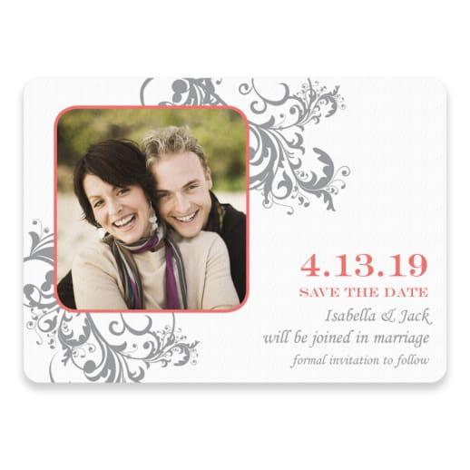 Flourish Save The Date Postcards