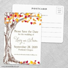 Celebration Of Love Save The Date Wedding Postcard Front And Back