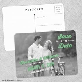Cape Cod Save The Date Wedding Postcard Front And Back