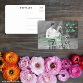Cape Cod Save The Date Postcard With Back