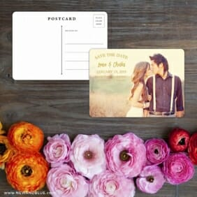 Breaking News Save The Date Postcard With Back