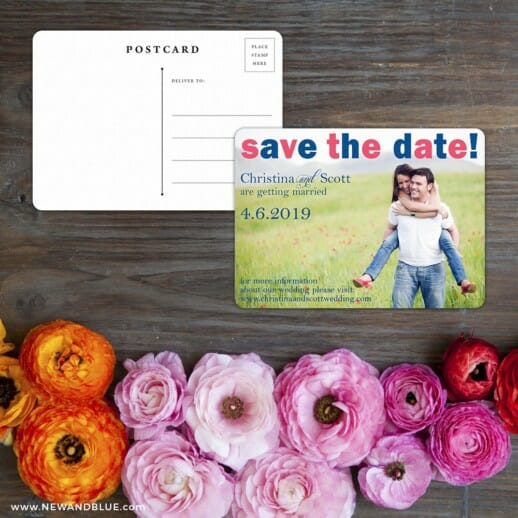 Big Sky Save The Date Postcard With Back