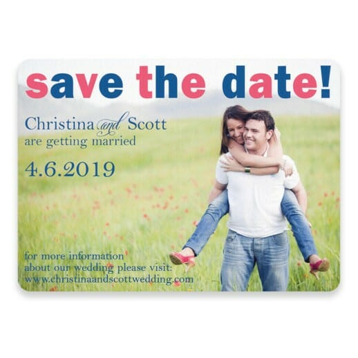 Big Sky Save The Date Postcards