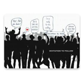 Big Celebration Save The Date Postcards