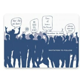 Big Celebration Bar Bat Mitzvah Save The Date Postcards