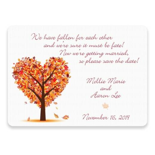Autumn Romance Save The Date Postcards