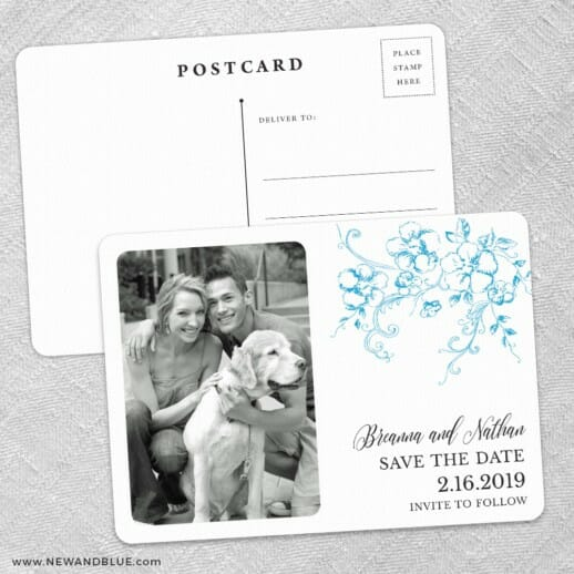 Abbey Road Save The Date Wedding Postcard Front And Back