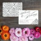 Signature Save The Date Card With Back Printing