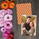 Rachel Save The Date Card With Back Printing