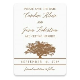 Oak Tree Save The Date