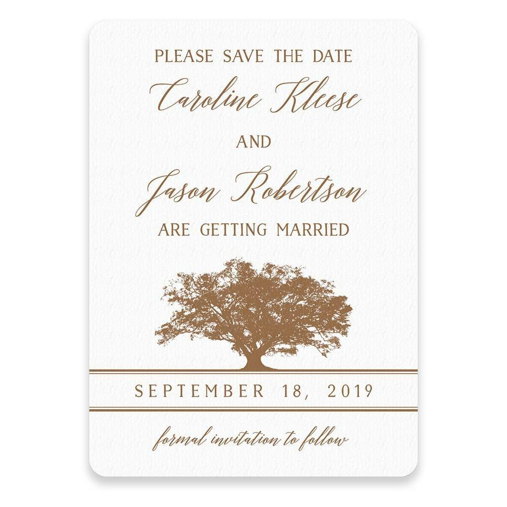 Oak Tree Save The Date