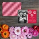 Noel Save The Date Card With Back Printing