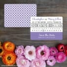Modern Calendar Save The Date Card With Back Printing