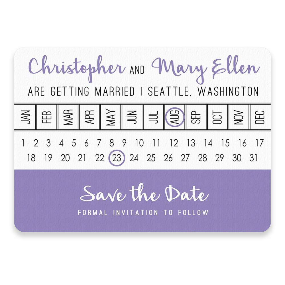Modern Calendar Save The Date