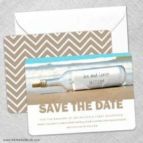 Message In A Bottle Save The Date Wedding Card