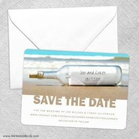 Message In A Bottle Save The Date Party Card