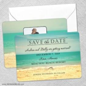 Kona Save The Date Wedding Card