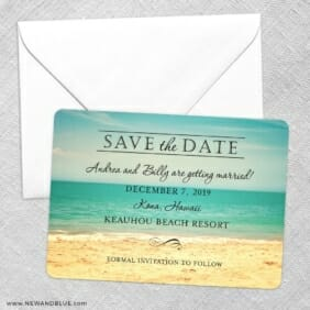 Kona Save The Date Party Card