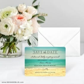 Kona Save The Date Card With Envelope