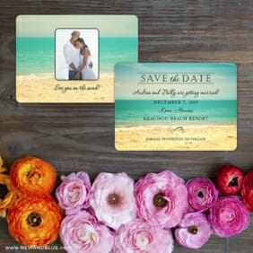Kona Save The Date Card With Back Printing