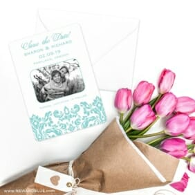 Grace Save The Date Cards With Envelope