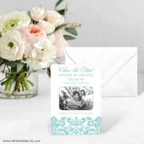 Grace Save The Date Card With Envelope