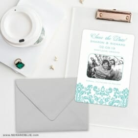 Grace Save The Date Cards And Optional Color Envelopes