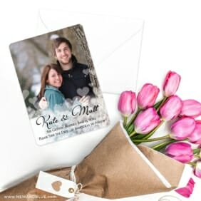 Glistening Hearts Save The Date Cards With Envelope