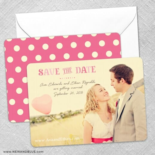 Frolic Save The Date Wedding Card